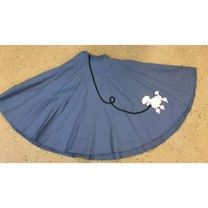 Dresses & Skirts - 50's Pin Up Poodle Skirt Pink Blue Skirt XS